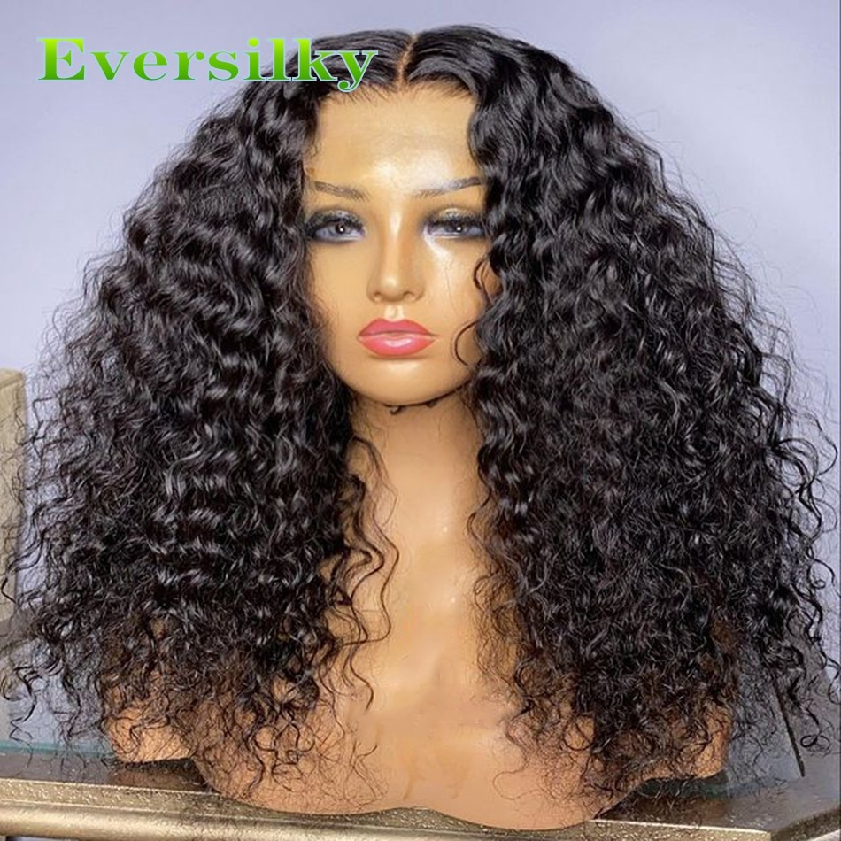 Natural Curly Human Hair Affordable T Part Wigs for Africa American Women 13x6 Lace Front Deep Curly Remy Indian Hair Wigs