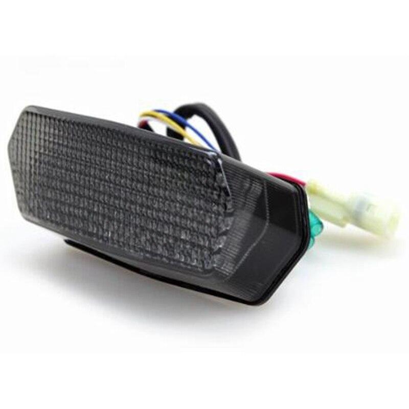 Dhbh-freio parar a luz da cauda fumaça lente integrado sinais de volta led sequencial integrado luzes traseiras para 2014-2020 honda grom msx