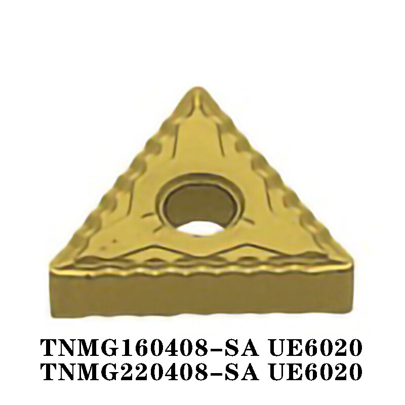 TNMG TNMG160408 SA UE6020 TNMG220408 SA 10 قطعة آلة خرط تعمل بالتحكم الرقمي بواسطة الحاسوب إدراج شفرة من الكربيد المستوردة من اليابان SA عالية الكفاءة 100% الأصلي