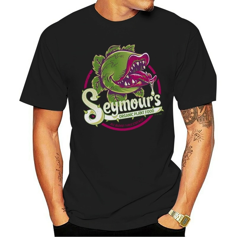 Camiseta de alimentos orgánicos de plantas de Seymour, camiseta de película de Cult de Little Shop Of Horrors 1980, camiseta, camiseta