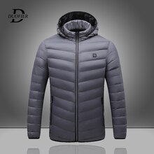 Winter Thicken Hooded Heated Men's Cotton Clothing Smart Constant Temperature Mens Heating Parkas Ja