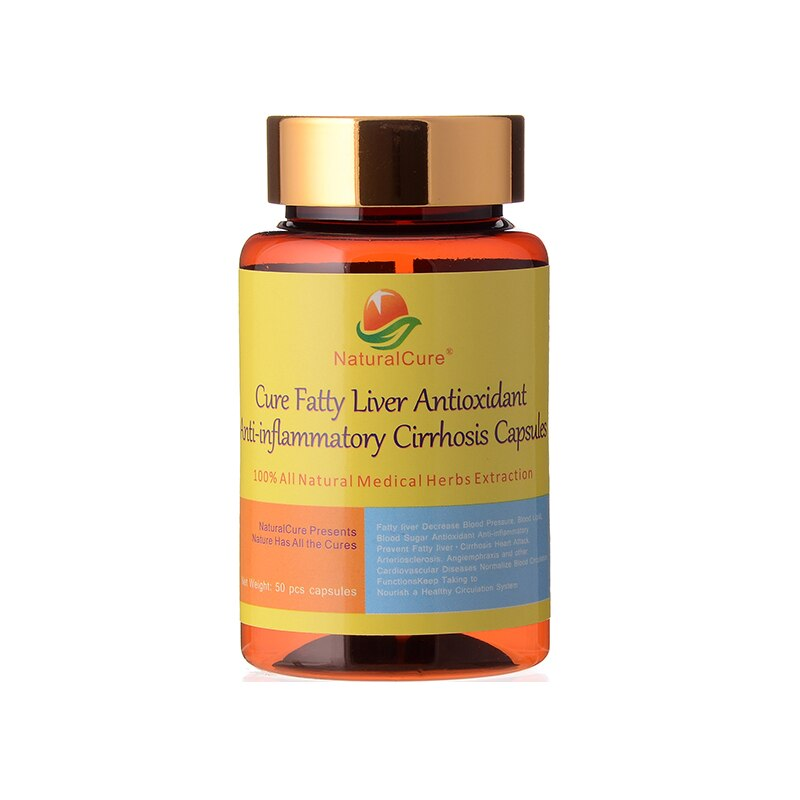 NaturalCure Cure Fatty Liver Capsules, Prevent Cirrhosis and Liver Cancer, Traditional Chinese Organic Plants Extract
