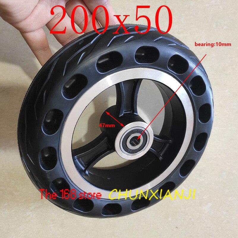 Neumáticos de moto eléctrica a prueba de explosiones de rueda sólida de alta calidad 200x50 neumáticos sólidos de motocicleta de 8 pulgadas colmena agujeros