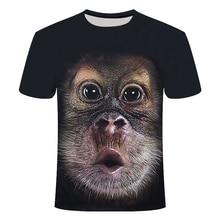 Verano 2020 camiseta 3D estampado animal gorila manga corta diseño divertido camiseta casual Camiseta Hombre asiático tamaño S-6XL