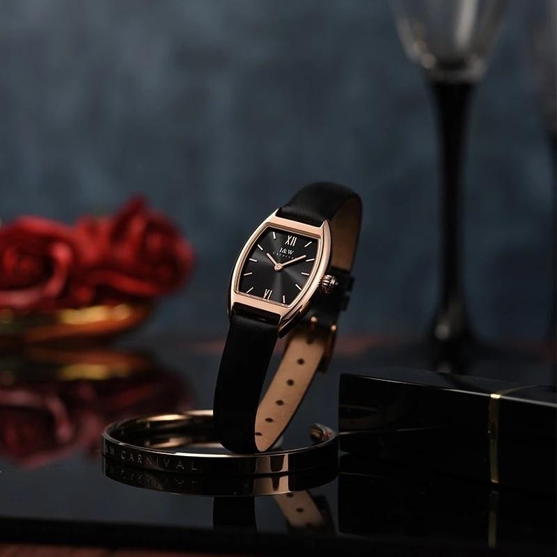 CARNIVAL Brand Woman Fashion Rose Gold Watch Ladies Waterproof Luxury Sapphire Dress Casual Quartz Wristwatches Relogio Feminino enlarge