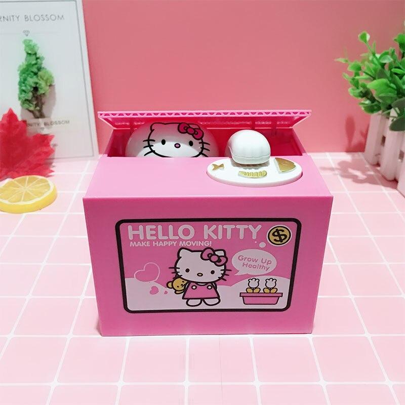 Hucha de juguete HelloKitty, hucha de juguete creativa, decoración de decoración, regalo de cumpleaños para niñas y gatos