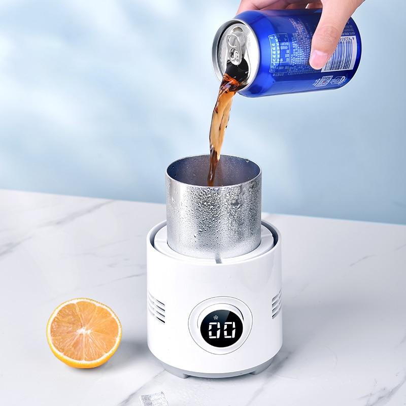 2 في 1 التبريد السريع كوب سخان كوب المحمولة الكهربائية برودة علب المشروبات القهوة جهاز حفظ حرارة الحليب المشروبات حامل دفئا القدح برودة كوب