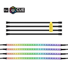 RGB Led قطاع فردي عنونة ل 5 فولت WS2812B شريط ليد ديجيتال ل CORSAIR iCUE ، 3 دبوس 5 فولت إضافة رأس على اللوحات الأم ، PC