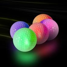 Luminoso Lampeggiante Palle Da Golf Luce Up per la Notte di Sport di Formazione Sfera Brillante Glow in The Dark Tiro A Lunga Distanza