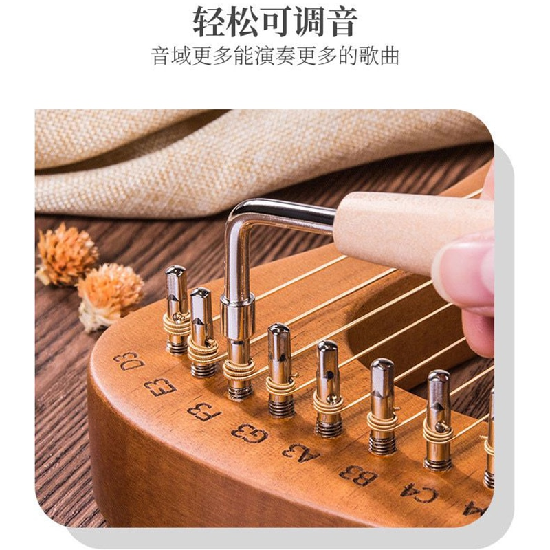 Strings Kit Instrument Harp Accessories Holy Small Greek Wood Solid Mahogany Jews Instrument De Musique Entertainment HX50SQ enlarge