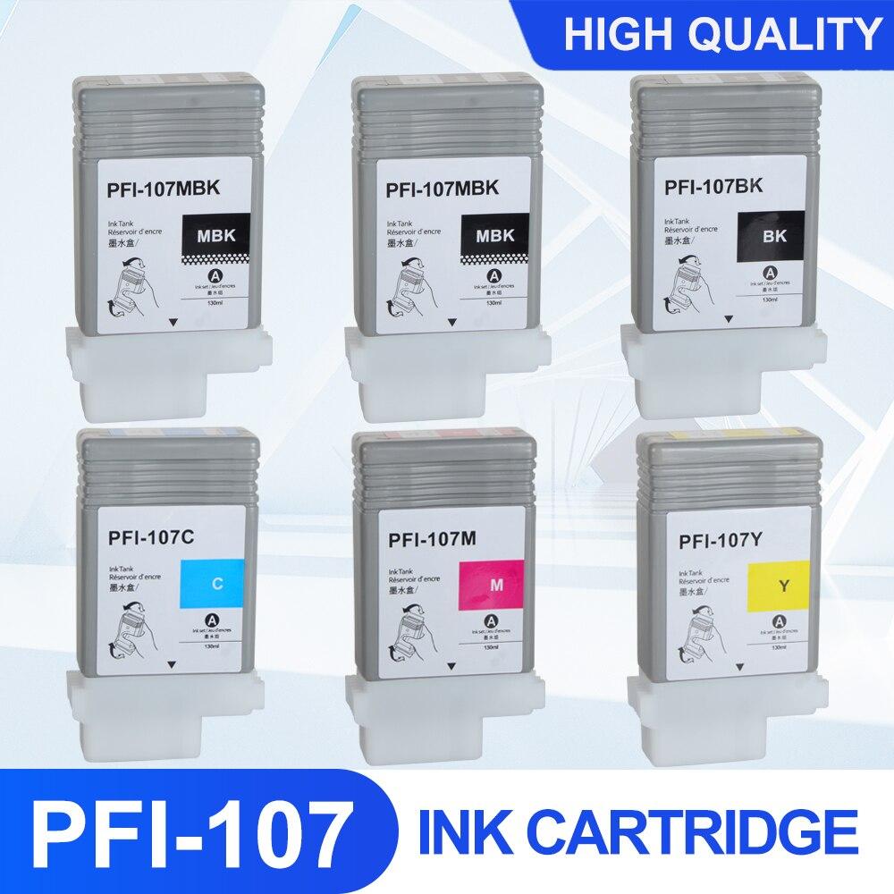 PFI107 PFI-107 قسط اللون متوافق خرطوشة الحبر الحبر الكامل مع رقاقة لكانون iPF670 iPF680 iPF685 iPF770 iPF780 iPF785