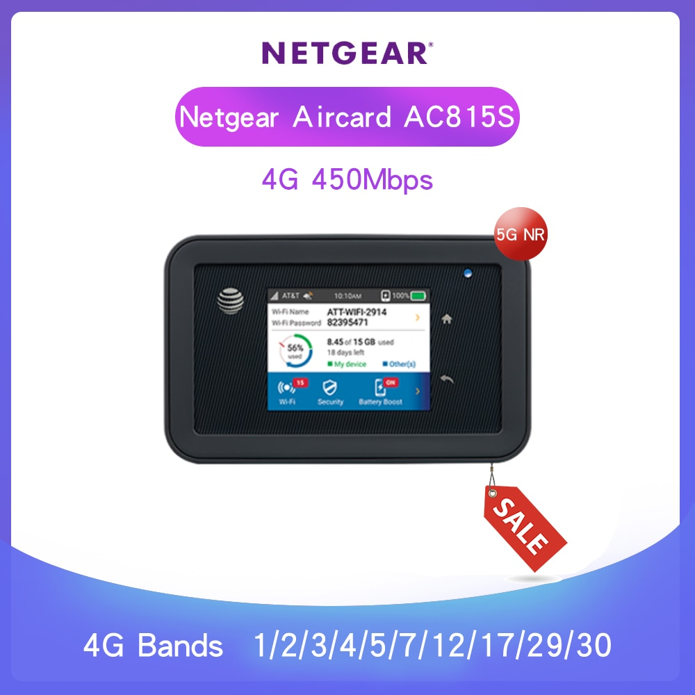 Entsperrt Netgear Aircard 815s AC815S 4G 450M AT & T Unite Erkunden Mobile Hotspot 4340mah otg kleine tragbare USB power bank Ladung