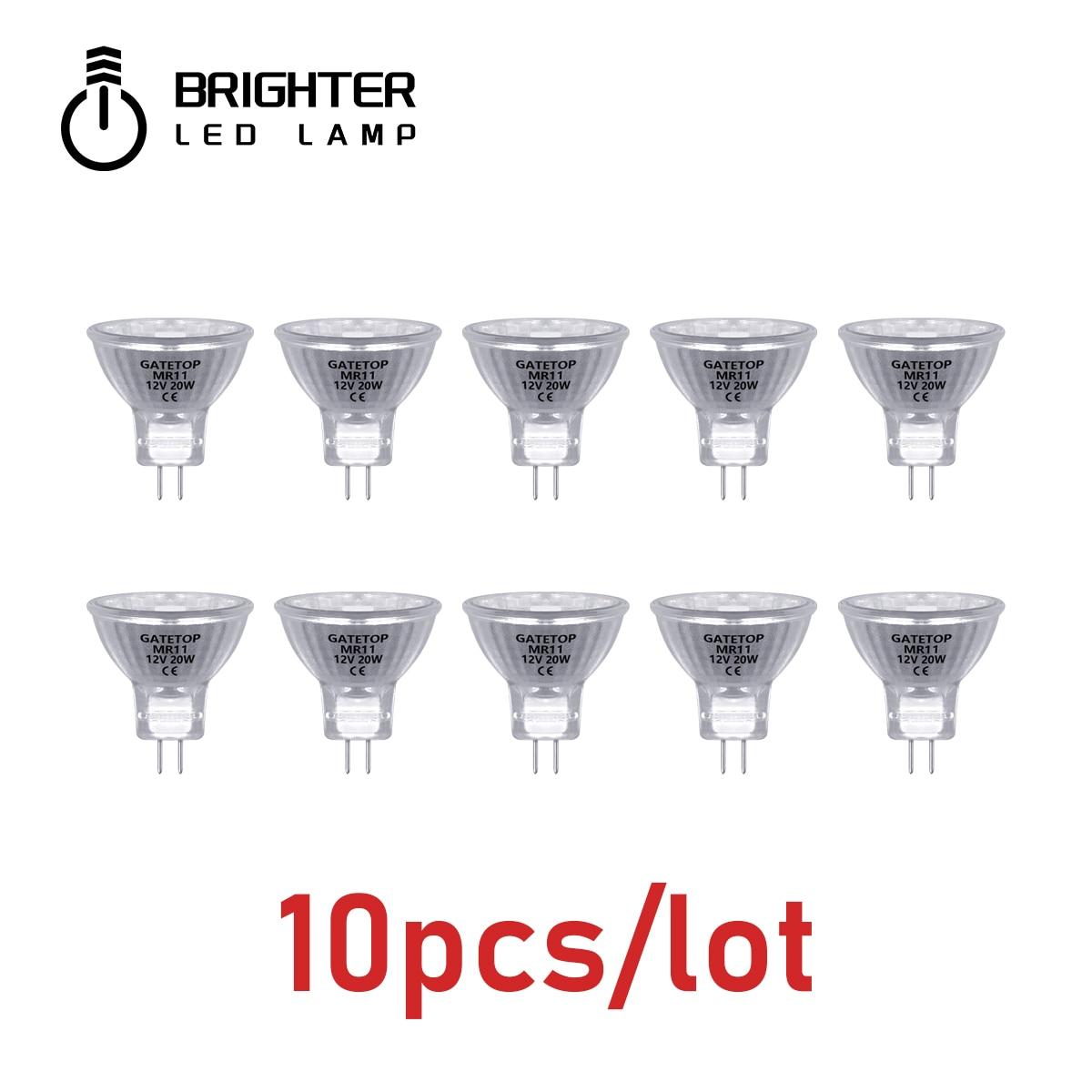 Spotlight Halogen Lamp MR11 10Pcs/Lot 20W 12V Energy Saving GU4 Hot Size