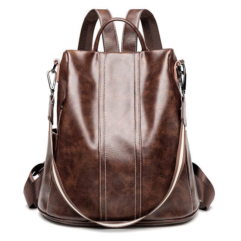 Женский рюкзак из искусственной кожи, черный женский рюкзак, новинка 2020, Женский однотонный рюкзак, женский рюкзак, рюкзак
