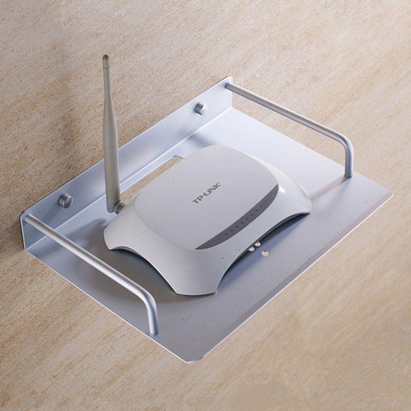 ТВ-приставка роутер ТВ-приставка мини-ПК dvd-плеер однослойный Космический алюминиевый настенный кронштейн для хранения