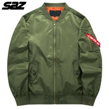 Saz Military tactical Male Army Flight Bomber Jacket Baseball Varsity College Pilot Air Force Waterp