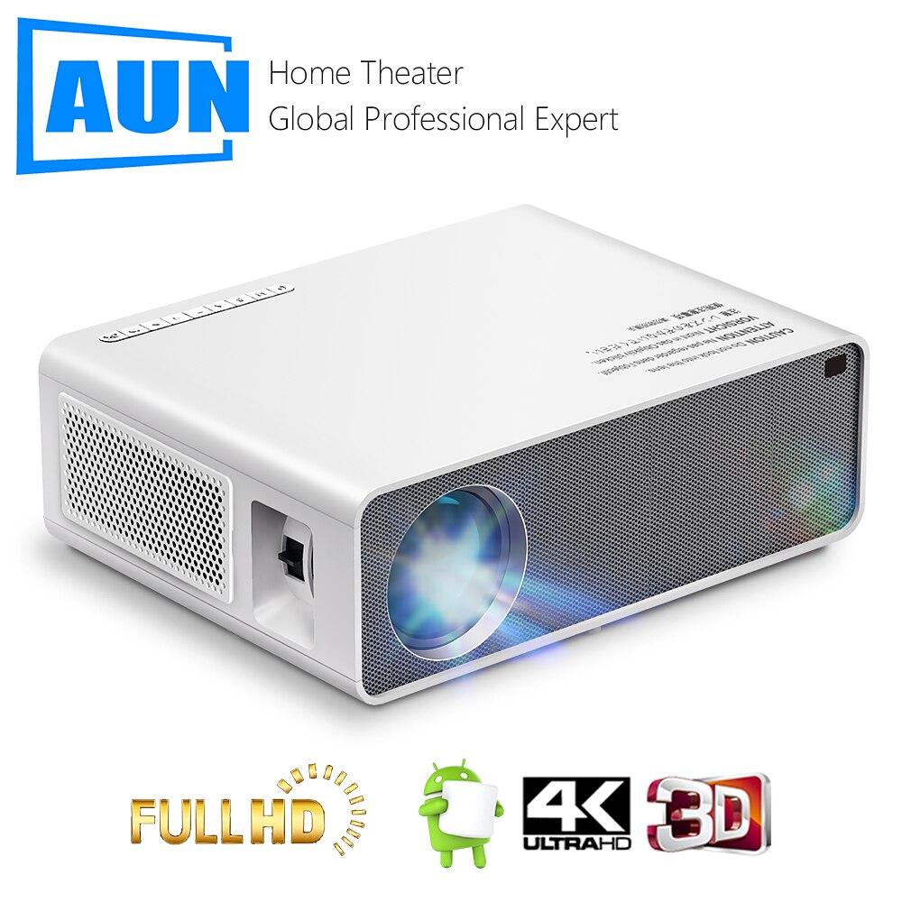 جهاز عرض AUN Full HD AKEY7Max الأصلي 1080P 7500 التجويف ثلاثية الأبعاد دعم السينما المنزلية 4K متوافق مع صندوق تلفزيون الكمبيوتر PS4