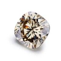 starsgem light champagne 1111mm 6ct excellent color cushion cut moissanite gemstone