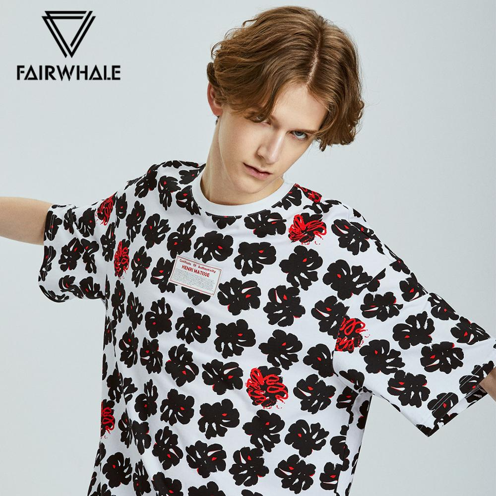 Mark Fairwhale 2020 Fashion Western Style Printed Men T-shirt Oneck Loose Causal Tshirt Tops 719201028031
