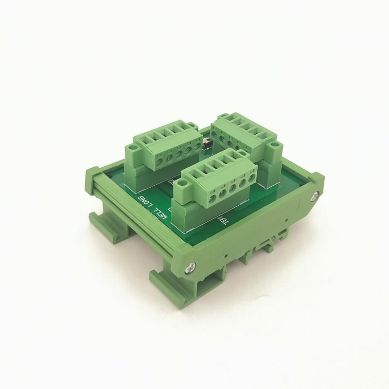 PLC الصناعية حافلة شبكة لوحة القطع ، PLC دعم IO محطة كتلة ، WL-TB-102.