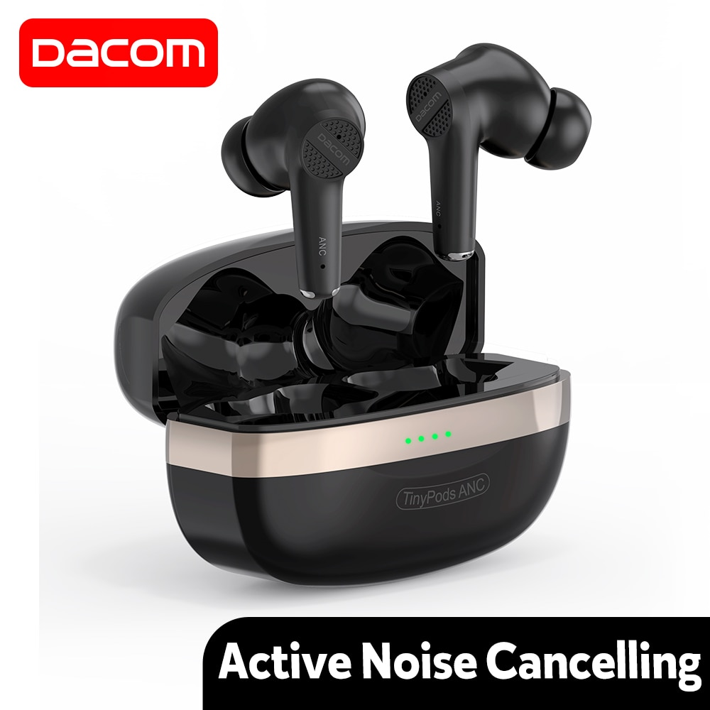 Dacom TinyPods ANC Wireless Earphone Active Noise Cancelling Earbuds Bluetooth 5.1 TWS Headphones AA