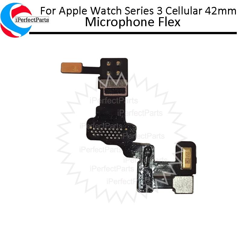 Para Apple Watch Serie 3, celular, 42mm, micrófono piezas de recambio de Cable Flex