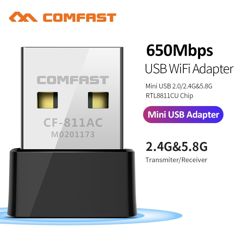 650M-1300Mbps 2.4G&5G Dual Band USB Wireless Wifi Adapter RTL8811/RTL8812 802.11AC High Speed Network Card For Laptop Desktop PC
