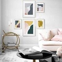 Affiche murale en toile avec bloc de couleur Simple  style scandinave  Art abstrait  pour couloir  salon  decoration de la maison