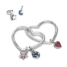 Kakany 2020 nova alta-qualidade rosa estrela do mar azul onda me link pingente brincos para mulheres originais 11 diy brincos jóias