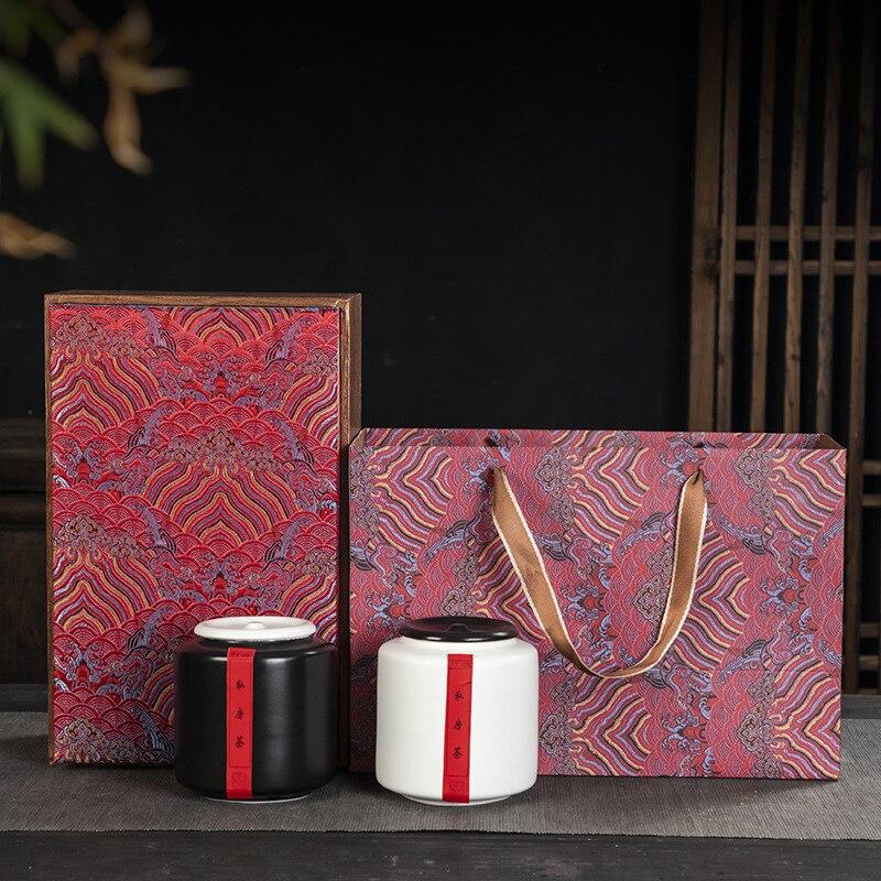 خمر الفن الشاي صندوق الختم مع غطاء دائري بسيط السيراميك الصينية الإبداعية صندوق تخزين Boite دي Rangement المنزل Decore EC50CY