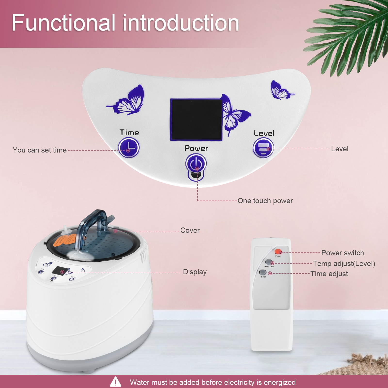 Portable Home Personal Sauna Tent Full Body Spa 2L Steam Engine Steam Sauna Box For Weight Loss Treatment With Remote Control enlarge
