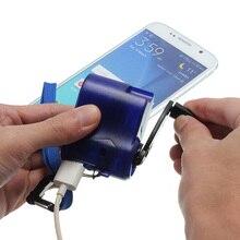 À Remontage Manuel Mini Extérieure Durgence Manuel Portable De Puissance Dynamo Manivelle USB Chargeur Universel