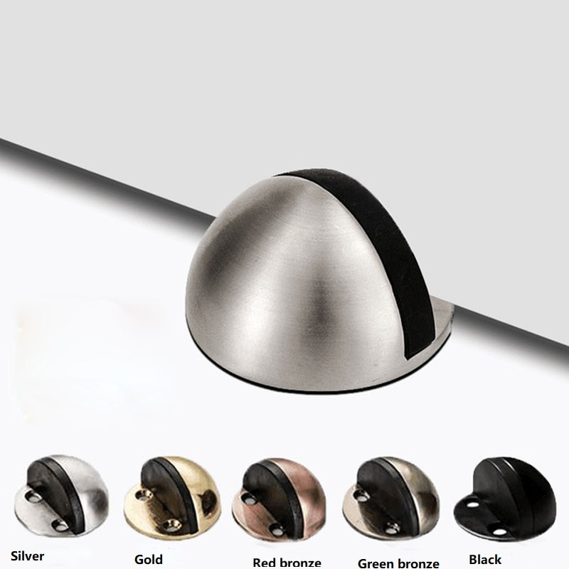 AliExpress - Stainless Steel rubber door stoppers dual no punching  floor bumper nail free safety wedge wall door holder wall protector