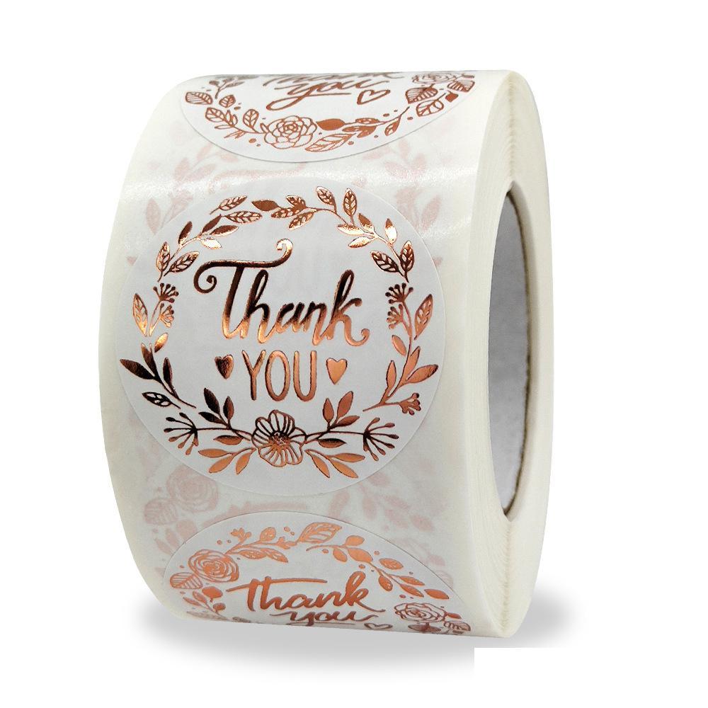 15-pollici-floreale-grazie-adesivi-500-pezzi-lamina-d'oro-adesivo-in-carta-bianca-per-imballaggi-aziendali-matrimoni-bomboniere-buste
