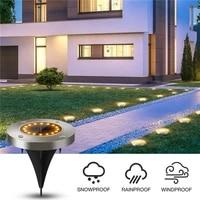 solar garden lights 816 led solar garden lamp waterproof outdoor solar disk lights for pathway yard walkway patio lawn path