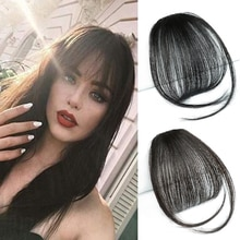 Chorliss Synthetic Air Bangs  Synthetic Fake Bangs Hair Piece Clip In Hair Extensions Blend Hair Clip In Hair Bangs Hairpiece