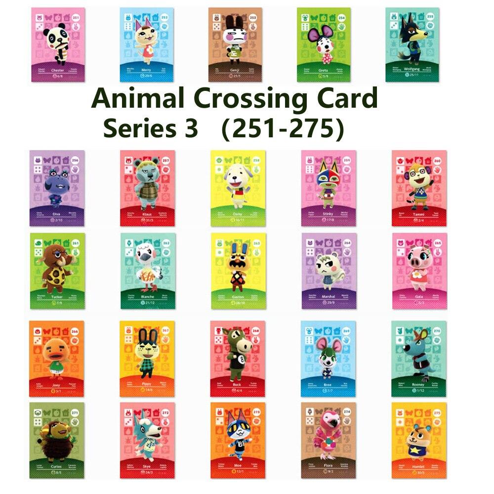 Serie 3 (251 a 275) Tarjeta de cruce Animal Amiibo candados nfc tarjeta de trabajo para juegos NS Serie 3 (251 a 275)