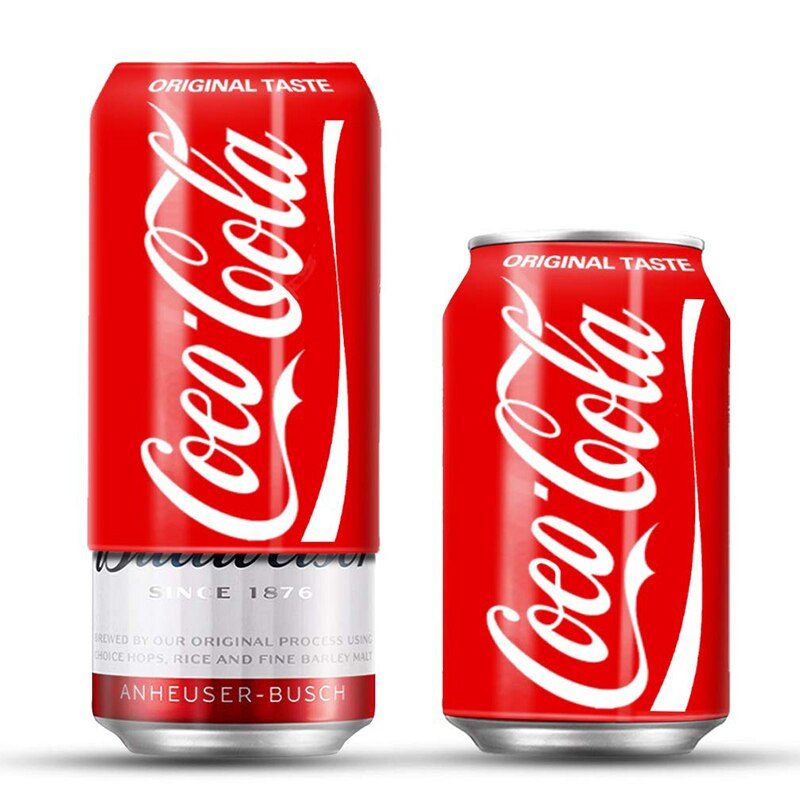 Manga de lata de Soda de 355ml, cubierta de lata de cerveza de silicona para bebidas, apto para eventos al aire libre, para juegos de fútbol, juegos de baloncesto