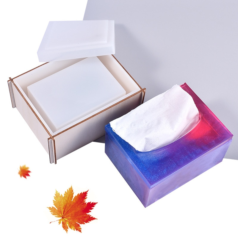 Tissue Box Resin Molds Rectangle Storage Box Silicone Moulds DIY Epoxy Resin Home Decoration