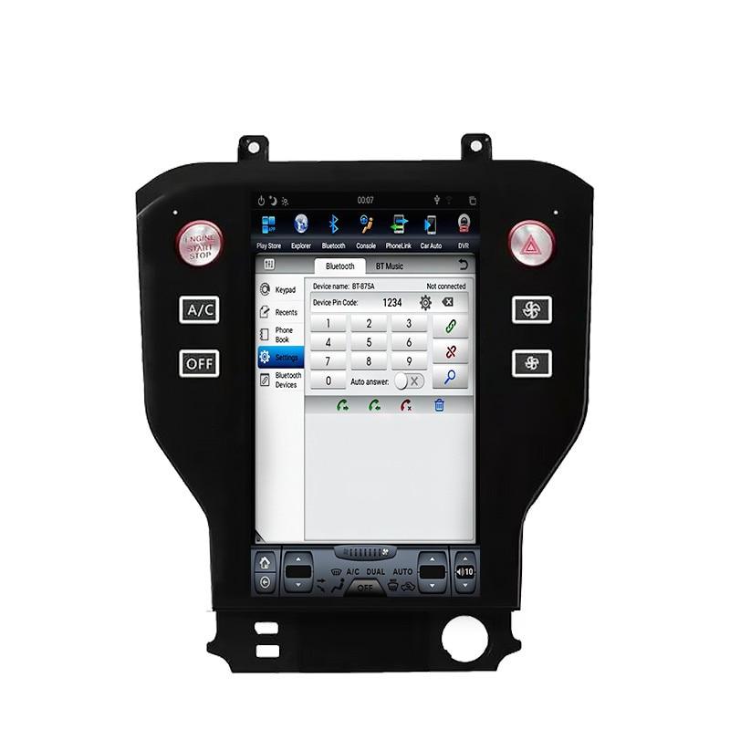 Chogath coche reproductor multimedia android 7,0 gps para coche de 11,8 pulgadas reproductor de radio para coche para Ford Mustang 2015 de 2016 a 2017