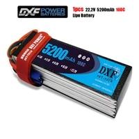 dxf power lipo battery 22 2v 5200mah 100c txt60 6s li poly batterry for rc model airplane car boat power akku