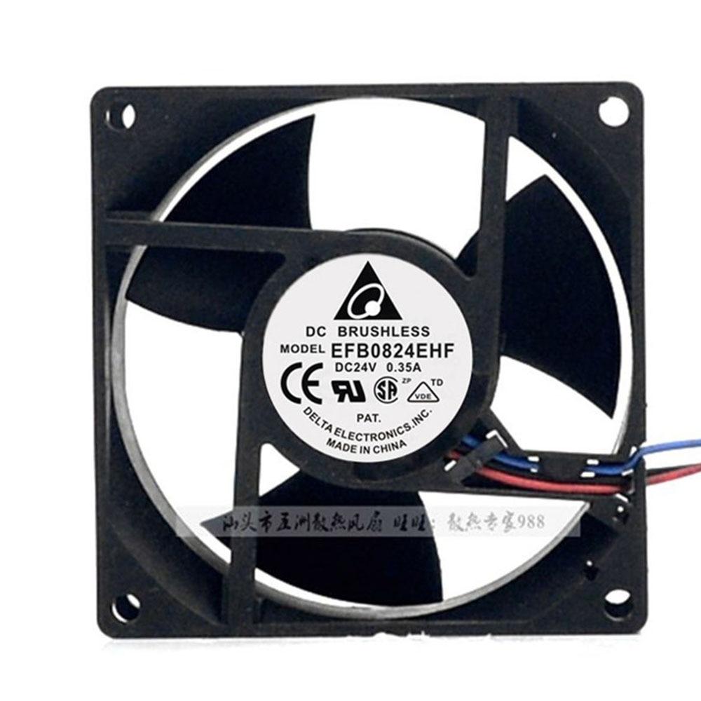 for delta EFB0824EHF -ROO 8032 24V 0.35A CT inverter cooling fan 80*80*32mm