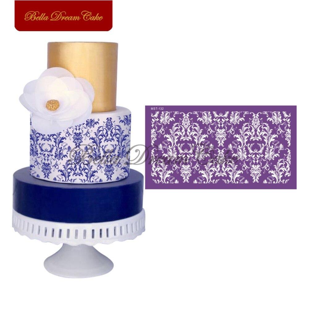 Molde de bolo estêncil de flor, forma de malha para fondant, decoração de bolo, casamento, ferramentas de confeitaria