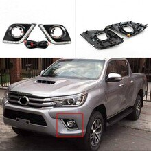 Jandating phare antibrouillard Toyota Hilux   2 pièces, blanc phare de jour, phare DRL pour Toyota Hilux 2015-2016
