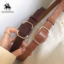 NO.ONEPAUL, nuevo diseño de moda, cinturón de marca de lujo para mujer, cinturones juveniles retro de cuero para mujer, estilo punk
