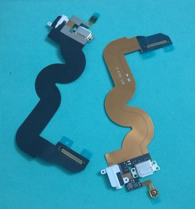 Original nuevo cargador USB puerto de carga auriculares con clavija de audio botón de inicio Cable flexible para iPod Touch 5 5th Gen Blanco/negro