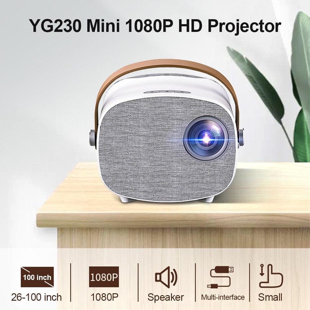 جهاز عرض (بروجكتور) ليد 1080P HD متعددة واجهة الذكية فيديو متعاطي المخدرات ل YG230 شاشة عرض المسرح المنزلي المحمولة فيلم مشغل الوسائط