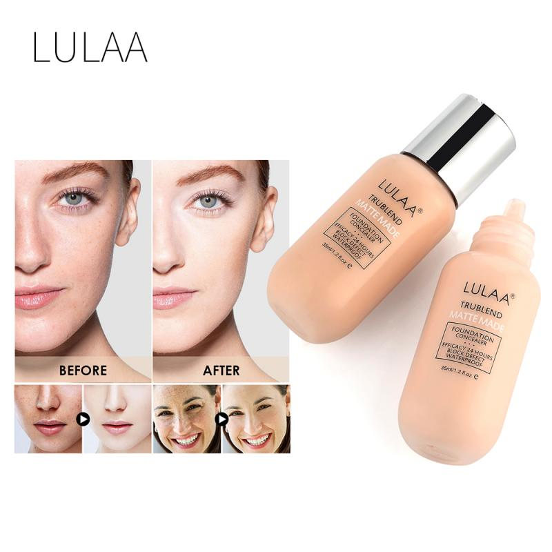 Corrector líquido LULAA, Base De Maquillaje con Control De aceite, Base De Maquillaje Profesional De larga duración, Fond of Teint, TSLM