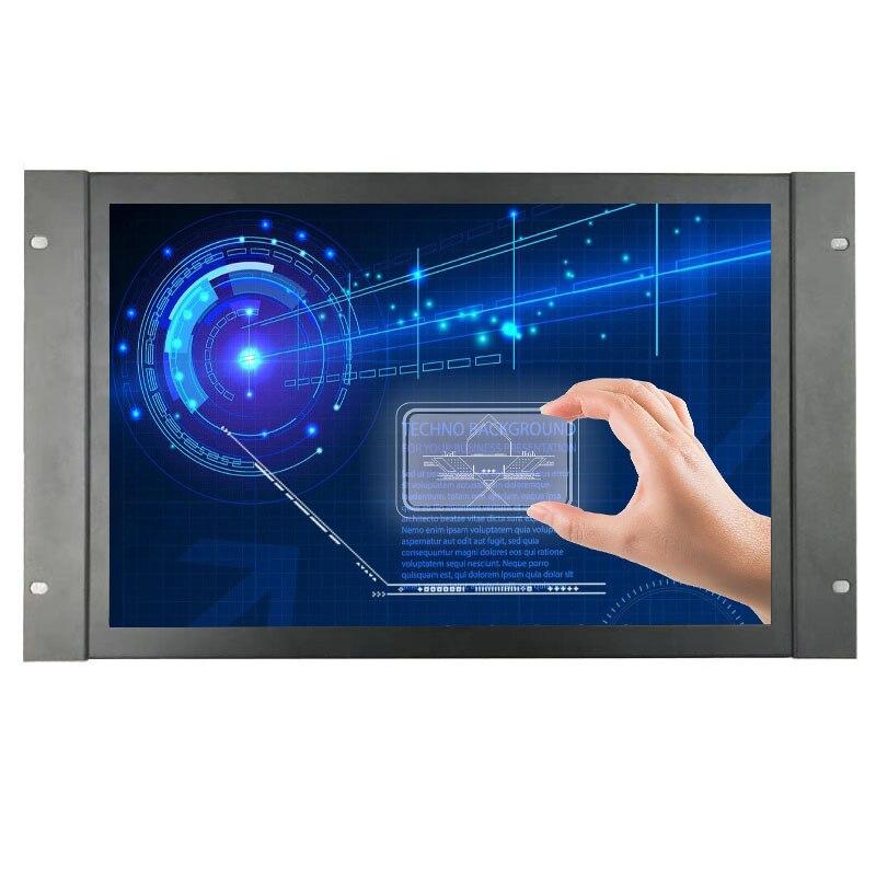 ZHIXIANDA-علبة معدنية صناعية 17.3 بوصة ، 1920 × 1080 ، HDMI ، VGA ، BNC ، AV ، USB ، إدخال ، إطار مفتوح ، مقاوم ، شاشة تعمل باللمس
