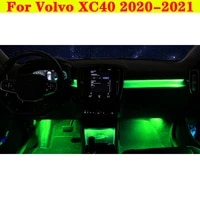 ambient light 64 colors update set decorative led atmosphere lamp illuminated strip for volvo xc40 2020 2021 screen control